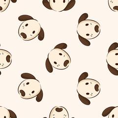 Animal dog icon, 10,seamless pattern
