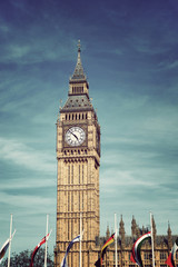 Clock Tower known as Big Ben, in London, UK