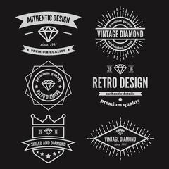 Set of vintage logo, label, badge and logotype elements for
