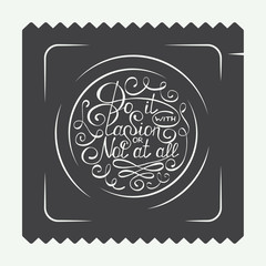 Vintage condom labels, logo or badge with hand drawn typography