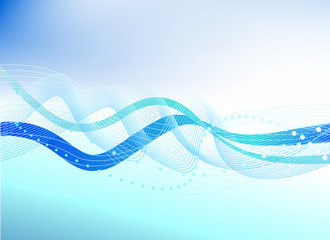 water abstract background blue vector illustration