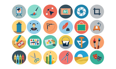 Flat Design Vector Icons 2