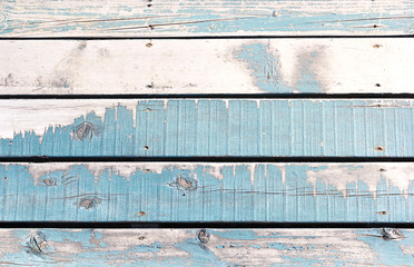 Wooden wall background or texture, The old walls are painted blu