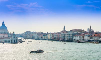Entrance to the Grand Canal, Venice, Veneto Region, Italy