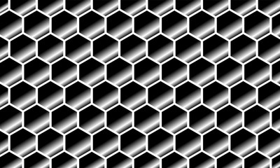Modern Abstract Background Hexagonal Design chrome