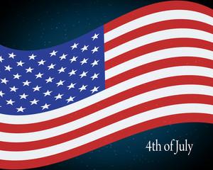 flying the U.S. flag
