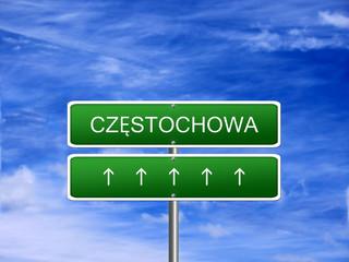 Czestochowa City Poland Sign
