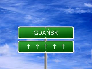 Gdansk City Poland Sign