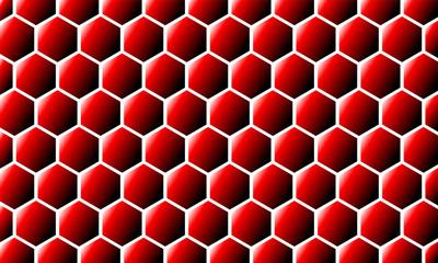 Modern Abstract Background Hexagonal Design red