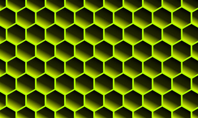 Modern Abstract Background Hexagonal Design bee