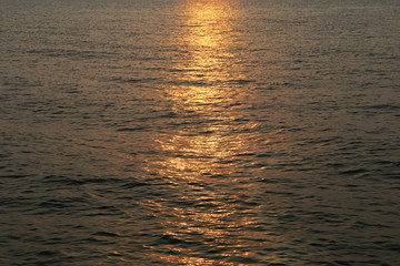 sea with sun reflections