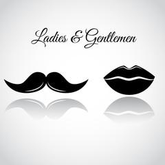Ladies & Gentlemen - symbolic vector icons.