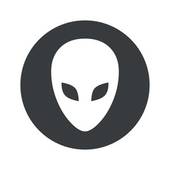 Monochrome round alien icon