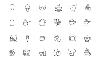 Food Hand Drawn Outline Vector Icons 9