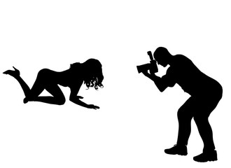 Silhouette photographer