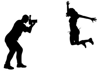 silhouette photographer