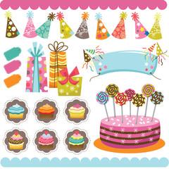 Birthday Celebration Elements