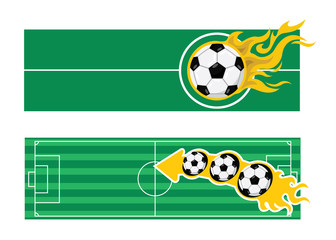 Soccer football banner