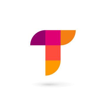 Letter T mosaic logo icon design template elements