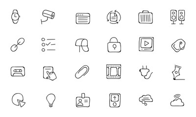 Communication Hand Drawn Vector Icons 3