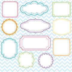 Colorful Frames Design Set