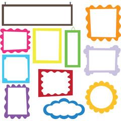 Colorful Digital Frame set