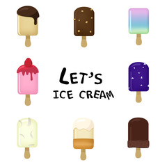 Tasty Ice cream Vector Collection Icon