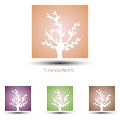 logo square tree