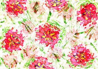 Cute watercolor floral design.