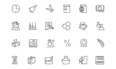 Education Hand Drawn Doodle Icons 5