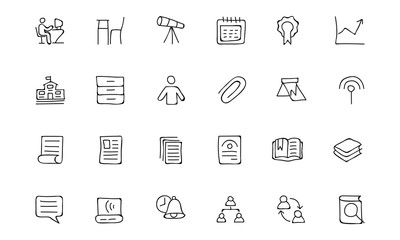 Education Hand Drawn Doodle Icons 6