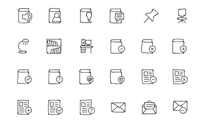 Education Hand Drawn Doodle Icons 7