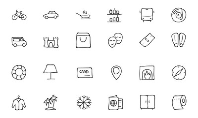 Hotel and Restaurant Doodle Icons 5
