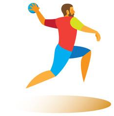 Handball forward throw