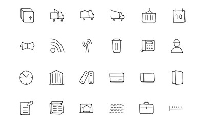 Real Estate Hand Drawn Doodle Icons 5