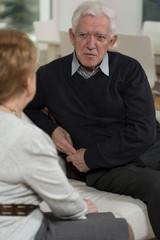 Elder couple's conversation