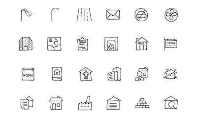 Real Estate Hand Drawn Doodle Icons 6