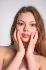 Beauty face of young woman