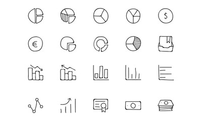 Finance Hand Drawn Doodle Icons 11
