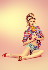 bright pinup