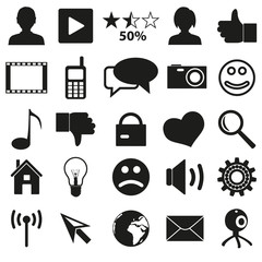 web and social networks set of simple icons eps10