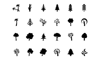 Trees Vector Icons 2