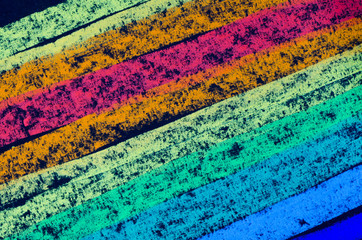 crayon drawn rainbow spectrum