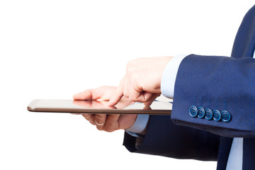 tablet PC on hands