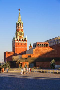 Moscow Kremlin, Spasskaya Tower, Lenin's Mausoleum, Red Square