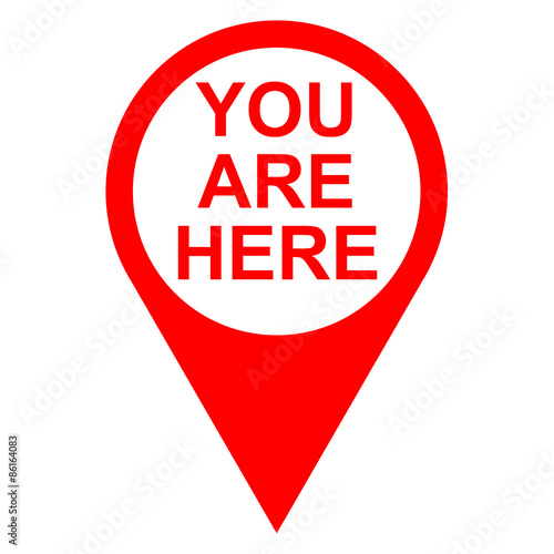 quoticono texto you are here localizacion rojoquot stock photo