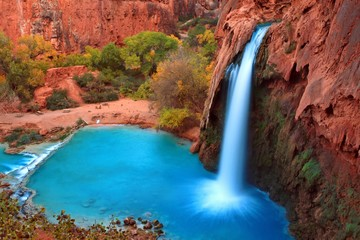 Most beautiful Falls in United States--Havasu Falls,Supai, Arizona