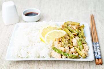 chicken asparagus lemon stir fry
