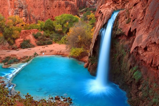 Most beautiful Falls in United States--Havasu Falls,Supai, Arizona
