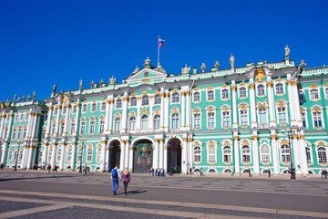 Winter Palace square in Saint Petersburg, Russia